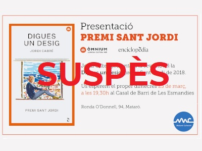 Suspended event scheduled for March 25 in Las Esmandies