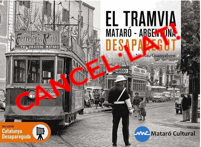 For reasons beyond Mataró Cultural, they are forced to cancel the event scheduled for Wednesday 16 September